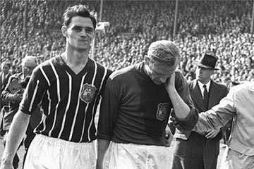 City win the 1956 F.A. Cup, with Bert Trautman playing with a broken neck
