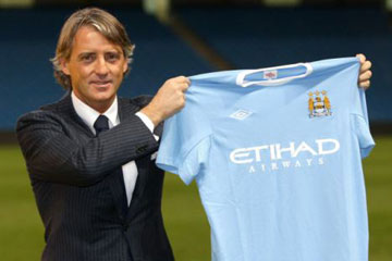 Roberto Mancini replaces Mark Hughes as City manager
