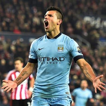 Sergio Aguero voted Bluemoon Player of the Month for February