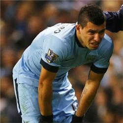 Aguero expected to be absent for four weeks