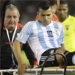 Aguero injured on international duty