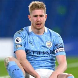 Kevin De Bruyne out for four to six weeks
