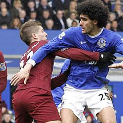 Everton 2 Manchester City 0 - match report