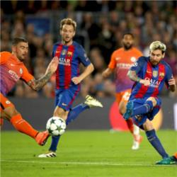 FC Barcelona 4 Manchester City 0 - Messi nets hat-trick on chastening night for Guardiola