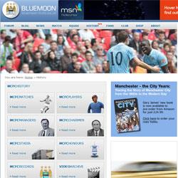 New MCFC History section on Bluemoon