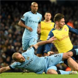 Manchester City 0 Arsenal 2 - match report