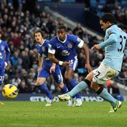 Manchester City 1 Everton 1 - match report