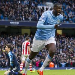 Manchester City 1 Stoke City 0 - match report