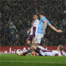 Manchester City 4 Aston Villa 0 - match report