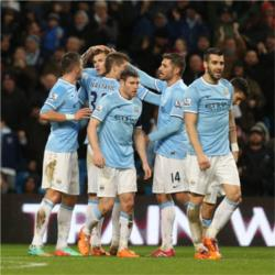 Manchester City 5 Blackburn Rovers 0 - match report