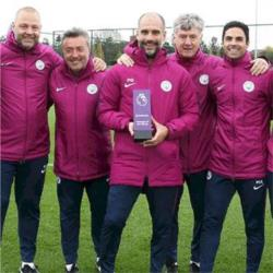 Guardiola named as Premier League Manager of the Month