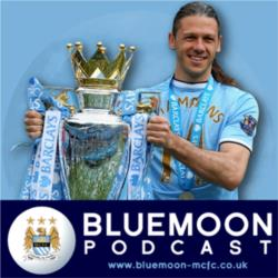 Gold Statues Outside The Etihad - New Bluemoon Podcast Online Now